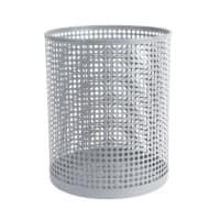 Foray Waste Bin Mesh Grey Metal, Plastic 24 x 29 cm