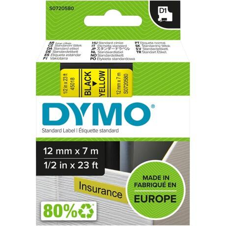 DYMO Labelling Tape 45018 12 mm x 7 m black / yellow