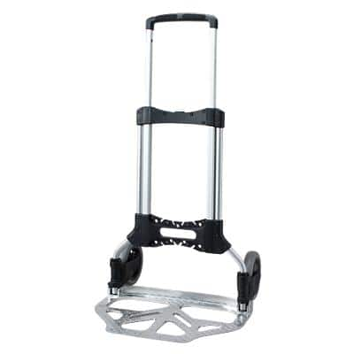 SLINGSBY Sack Truck Compact Silver, Black 49 x 49 x 101.5 cm