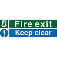Stewart Superior PVC Sign Fire Exit Keep Clear