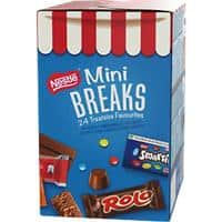 Nestlé Mini Breaks Treatsize Chocolate Sharing Box Containing 4 Different Nestle Treats 416g 24 Pieces