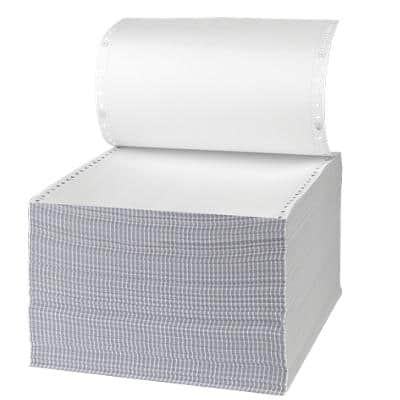 Niceday Computer Listing Paper 180263 54/51gsm Perforated 24.1 x 27.9 cm White 1000 Sheets