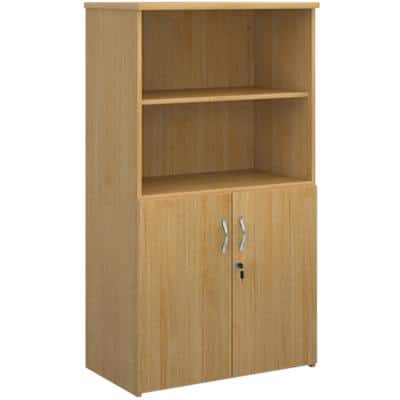 Dams International Combination Unit with Lockable Door and 3 Shelves Universal 800 x 470 x 1440 mm Oak