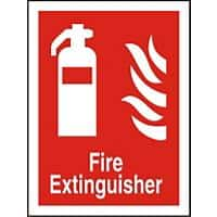 Fire Extinguisher Sign Vinyl Wall Mountable 15 x 20 cm