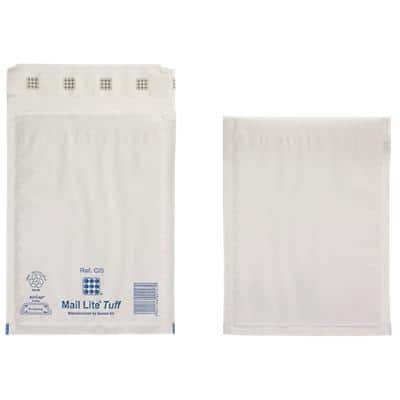 Mail Lite Tuff Mailing Bags Non standard 79gsm White Plain Peel and Seal 170 x 220 mm 100 Pieces