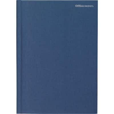Office Depot Notebook Navy Blue Ruled unperforated A4 29.7 x 21 cm 80 sheets