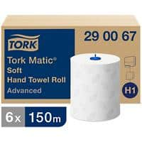 Tork Hand Towels H1 Matic Advanced 2 Ply Without feather edge White 6 Rolls of 625 Sheets