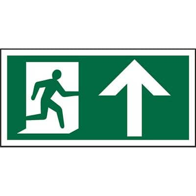 Fire Exit Sign Up PVC 30 x 15 cm