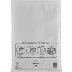 Mail Lite Mailing Bags j/6 110gsm White plain peel and seal 50 pieces
