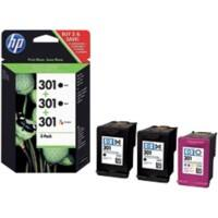 HP 301 Original Ink Cartridge E5Y87EE Black & 3 Colours Pack of 3