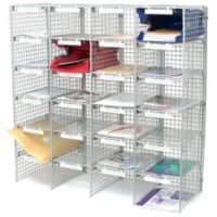 Val-U-Mail Letter Sorting Unit with 24 Compartments Silver 1067 x 381 x 1067 mm