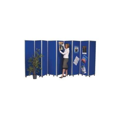 Concertina Screen with 9 Screens Blue 560 x 1,800 mm