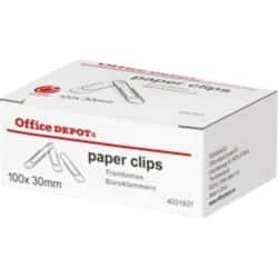 Office Depot Paper Clips Giant 30 mm 100 Per Box