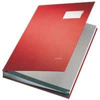 Leitz Signature Book 5700-25 Red Ruled Perforated A4 24 x 2.8 x 34 cm