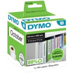 DYMO Multi Purpose Labels 99019 190 x 59 mm White
