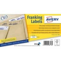 AVERY Franking Labels FL10 White Self Adhesive 40 x 175 mm 500 Labels