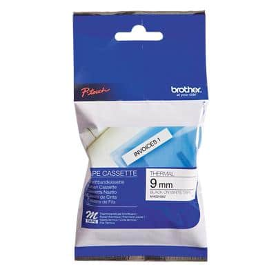 Brother P-Touch M Tape Labelling Tape MK221BZ Black on White 9 mm x 8 m