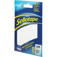 Sellotape Sticky Fixers Foam Pads White Pack of 140
