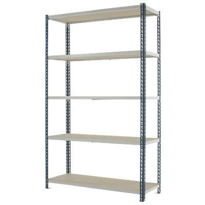 Kwik Rak Shelving Unit with 5 Shelves SX005GXGU 1200 x 450 x 1981mm Dark Grey & Light Grey