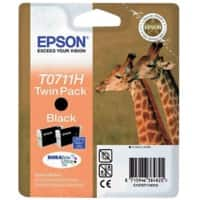 Epson T0711H Original Ink Cartridge C13T07114H10 Black Pack of 2