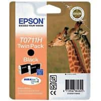 Epson T0711H Original Ink Cartridge C13T07114H10 Black 2 Pieces