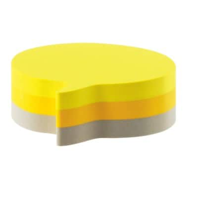Post-it Sticky Note Cube 70 x 70 mm Yellow, Grey 225 Sheets