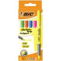 BIC Highlighter Brite Liner Grip 1.6 mm Assorted Pack of 5