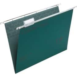 Rexel Crystalfile Classic Suspension Files Manilla V-Base 15 mm Capacity Foolscap Green - Box 50