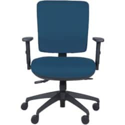 Energi-24 'Intensive' office operators chair in blue fabric