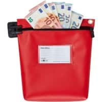 Val-U-Mail Cash Bag 267 x 267mm Zip Red