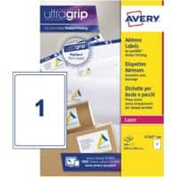 Avery L7167-100 Parcel Labels Self Adhesive 199.6 x 289.1 mm White 100 Sheets of 1 Label