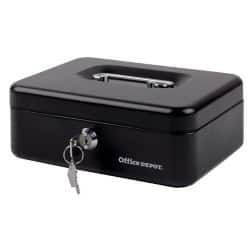 Office Depot Cash Box Black 7.4 x 20.4 x 15 cm
