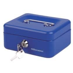 Office Depot Cash Box Blue 7 x 15.3 x 12 cm