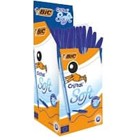 Bic Cristal Soft Ballpoint Blue - Box of 50