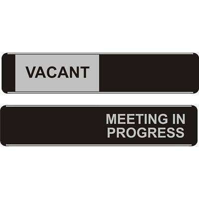 Office Sign Vacant/Meeting PVC 25 x 5 cm