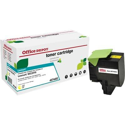 Compatible Office Depot Lexmark 802HY Toner Cartridge Yellow