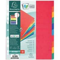 Europa Dividers 10 Part A4+ Assorted 10 Part Perforated Card Blank
