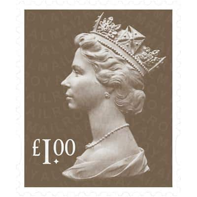 Royal Mail £1.00 Postage Stamps Self Adhesive Pack of 25