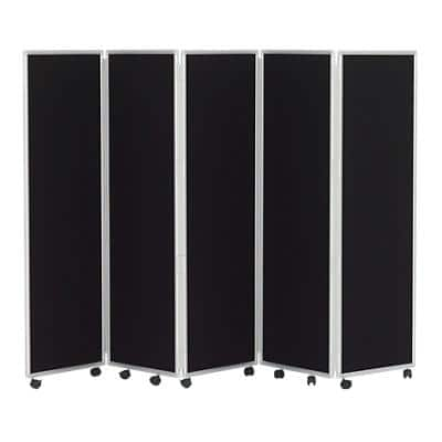 Concertina Screen Black 560 x 1,500 mm