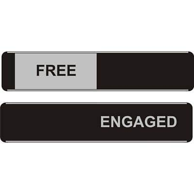 Office Sign Free/Engaged PVC 25 x 5 cm
