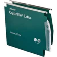 Rexel Crystalfile Heavy Duty 275 Lateral Suspension File 70637 V Base 15 mm Green Polypropylene Pack of 25