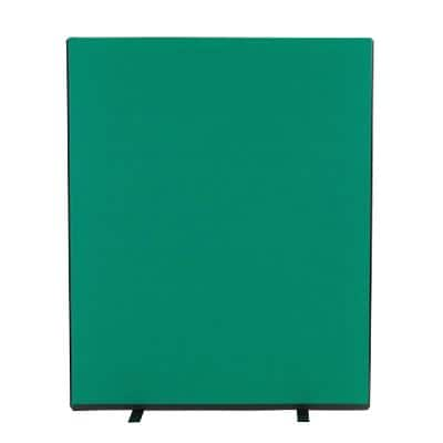 Freestanding Screen Fabric Wrapped 1200 x 1500 mm Green