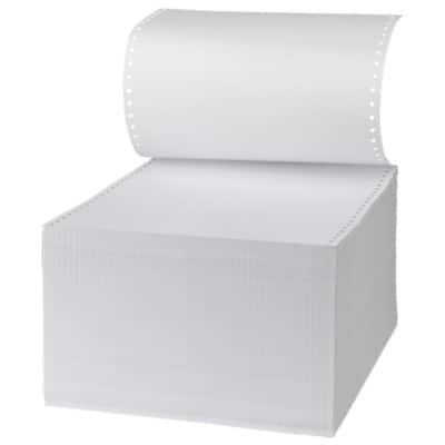 Niceday Computer Listing Paper 180186 60gsm Perforated White 2000 Sheets