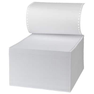 Niceday Computer Listing Paper 180186 60gsm Perforated 24.1 x 27.9 cm White 2000 Sheets