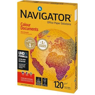 Navigator Colour Documents Printer Paper A4 120gsm White 250 Sheets