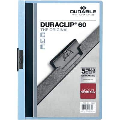 Durable Duraclip 6mm A4 Folder Blue