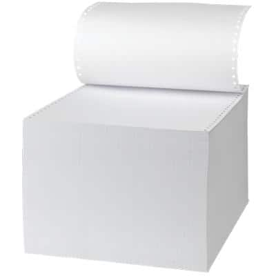 Toplist Computer Listing Paper 24.1 x 27.9 cm Perforated 70gsm Bright White 2000 Sheets