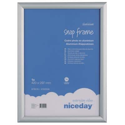 Niceday Wall Mountable Snap Frame 978916 A3 327 x 450 mm Grey