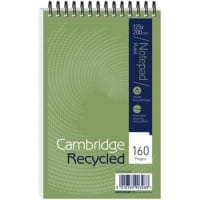 Cambridge Notebook Cambridge Green Ruled 125 x 200 mm 20 x 12.5 cm Pack 10