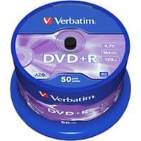 Verbatim DVD+R 16x 4.7 GB 50 Pieces